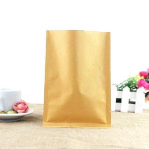 Bolsas de papel Kraft de alta calidad Bolsas de papel de aluminio interno / espesar Bolsas de Kraft de color marrón Principales alimentos de paquete de sellado con calor abierto / caliente, té, bolsa de café