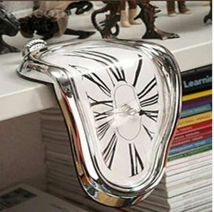 Roman surréaliste fondu distorsion horloge murale surréaliste salvador dali style horloge murale incroyable décoration de la maison cadeau