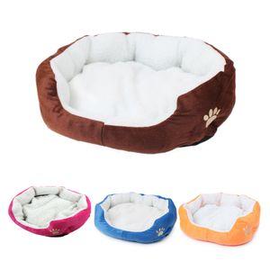 Mignon chien mou chat animal lit mini maison pour bonbons chiens de couleur lits doux chaud animal maison chenil pour chiot chat animal chien fournitures