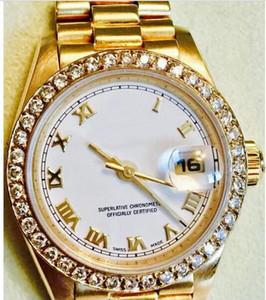 Горячие продажи высочайшего качества роскошные часы Lady 69178 18KT золотой сталь браслет 26 мм автоматические часы для женщин