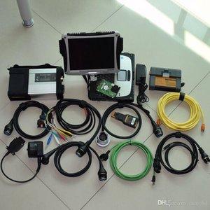 Para benz e para bmw sistema de diagnóstico 2em1 para mb estrela c5 bmw icom a2 com hdd 1 tb laptop resistente cf19