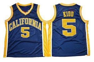 Mens California Golden Bears Jason Kidd College camisetas de baloncesto para hombre 5 Jason Kidd University cosidas camisetas de baloncesto