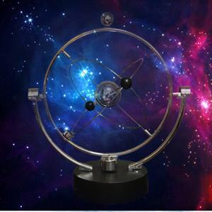1 PC Cinética Orbital Giratório Gadget Perpetual Motion Desk Art Láctea Brinquedo Escritório Decoração Educacional Ciência Arte
