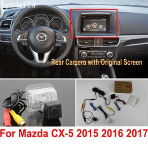 Камера заднего вида автомобиля подключить оригинальный экран для Mazda CX5 CX-5 CX 5 2015 2016 2017 обратный резервный разъем камеры RCA адаптер