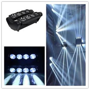 2 stücke 8x10 watt disco lichter sound aktiviert spinne dmx weiß moving head led dj spinne licht