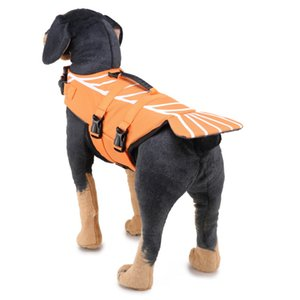 Dog Life Jacket Pet floatation vest Quick Release Swimming Vest,Fish Style Floatation Vest,Brighted Colour Easy Handle for S M L