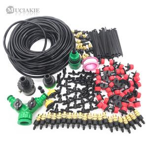 MUCIAKIE 10 Mt 15 Mt 20 Mt 25 Mt 30 Mt Gartenbewässerung Bewässerung Kit mit PVC Schlauch Beschlagen Sprinkler Dripper Tee Adapter
