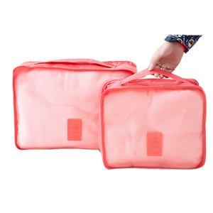 Sacos de armazenamento 6 Pcs Conjunto Saco De Armazenamento De Viagem Para Roupas Organizador Organizador Pouch Organizador Saco de Viagem Caso Sapatos de Embalagem Saco Do Cubo