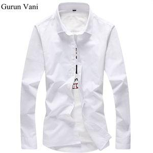 2018 Camisa Dos Homens de Manga Longa Slim Fit Camisas de Vestido Dos Homens Sólidos Camisas Formais Projetos Camisa Masculina Social Dos Homens de Negócios camisa