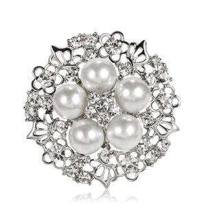 Le donne Boutique Brooches farfalla fiore lega spilla perle di cristallo Lady Lady Jewelry 12PCS dimensioni 3,4 * 3,4 cm spedizione gratuita