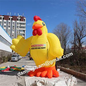 5m di alta qualità Gentalman gonfiabile pollo, thanksgiveing vacanza decorazione evento modello di tacchino gonfiabile