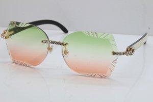 Lentilles High-End Noir Inside Vintage Lentille Corne Lunettes Big Stones Buffalo Sunglasses En gros Sunglasses Sculpté 8200762A Blanc Sans Rimless Erndx
