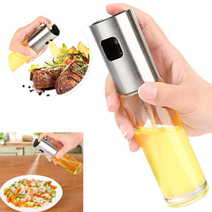 Oil Sprayer For Cooking Stainless Steel And Glass Bottle Oil Dispenser For Cooking Utensils Frying Salad Baking HH7-1040