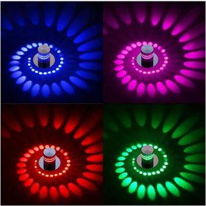 Moderna CONDUZIU a Luz de Teto 3 W RGB arandela para Galeria de Arte Decoração Frente Varanda lâmpada Varanda corredores de luz Dispositivo elétrico de iluminação