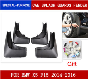 4Pcs Set Car Mudflaps Splash Guards Mud Flap Mudguards Fender FOR BMW X5 F15 2014 2015 2016