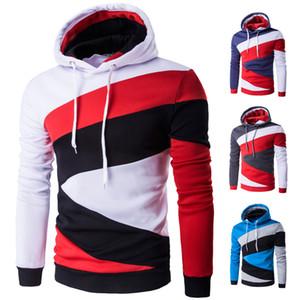 Designer Hommes Sweats à capuche Homme Hip Hop Homme Marque Couleur Hoodie Sweat-shirt Homme Brochage Slim Fit Hommes capuche XXL Hauts O-Neck