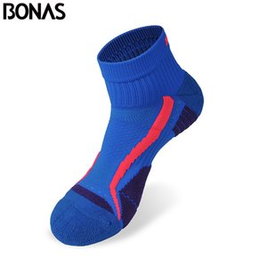 Bonas CoolMax Polyester Quick Dry Short Socks Men's Colorful Casual Male Cotton Socks Breathable Fashion Brand