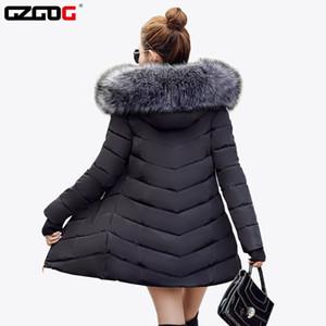 All'ingrosso-vacanza raccoon Fur collar Giacca Invernale Donne Inverno E Autunno Usura Parka di alta qualità Outwear Donne Cappotti Lunghi