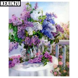 KEXINZU 5d diy pittura diamante del fiore kit punto croce diamante ricamo cesto di fiori immagine modello di mosaico home decor REGALO