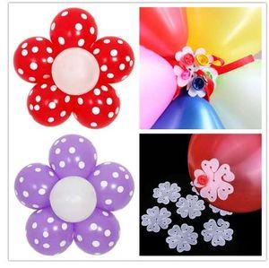 10 قطع زهرة بالون بالون globos بالونات الديكور الاكسسوارات البرقوق كليب العملي حفل زفاف عيد البلاستيك كليب