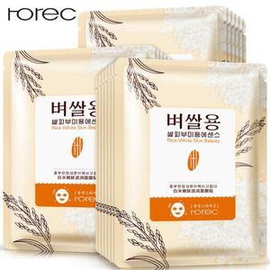 Horec Rice Skin Beauty Essence قناع الوجه مغذي ترطيب الوجه قناع النفط السيطرة سطع قناع العناية بالبشرة