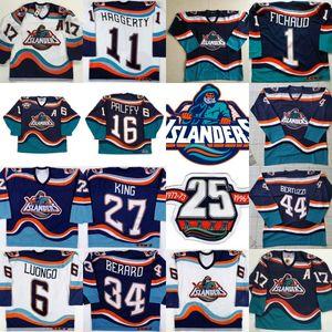 New York Islanders Fisherman Jersey mit 25. 16 Ziggy PALFFY 11 Darius Kasparaitis 14 Armstrong 44 Bertuzzi 34 Berard 51 Korolev-Trikots