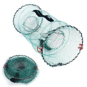 30*60 см прочный складной Рыбалка ловушка рыба креветки краб приманки литой чистой рыбы весной стали нейлон клетка Рыбалка основные инструменты Бесплатная доставка