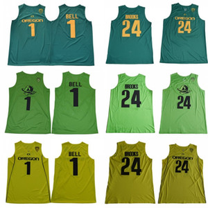 Oregon patos faculdade ncaa costurado bordado bordão retro moda por atacado jerseys bell dillon brooks jersey presente de natal 19