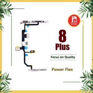 Para Apple iPhone 8 Plus Power Flex Ribbon con Metal Plate Lock Bracket Volume Power OnOff Control Switch Connector Flex Reparación Reemplazo