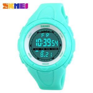 SKMEI Mujeres Relojes Deportivos Deporte Al Aire Libre Impermeable LED Niños Reloj Militar Multifunción Boy Girl Reloj montre femmeY1883101