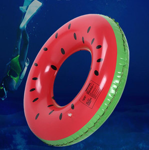 Watermelon Schwimmen Ring Inflatable Floats Pool Schwimmen Schwimmer für Kinder Floats aufblasbare Wassermelone-Schwimmen-Ring Wassersport Spielzeug