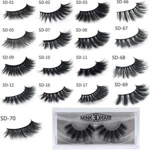 Venda quente 3D Mink Cílios Cílios Messy Eye cílios Extensão Cílios Sexy Full Strip Eye Lashes Por fibra química DHL