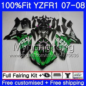 Injektionskörper für YAMAHA YZF R 1 YZF-1000 YZF-R1 Repsol grün heiß 07 08 227HM.43 YZF 1000 YZFR1 07 08 YZF1000 YZF R1 2007 2008 Verkleidungssatz