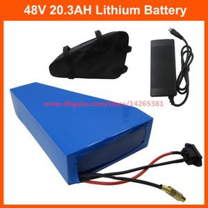 L'alta qualità 1000W 48V 20.3AH 20AH batteria elettrica della bici 48V triangolo uso della batteria al litio NCR PF cellule 2900mAh borsa 30A BMS libero