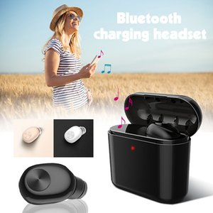 L1 TWS Drahtloser Bluetooth-Kopfhörer mit Ladebox Stereo-Kopfhörer mit 700mAh 300mA-Ohrhörer Mini Invisible