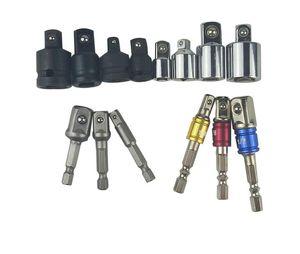 """7Pcs Socket Adapter Bohrer Set Set Sechskantschaft 1/4 """"3/8"""" 1/2 """"Impact Driver Tool 1/4 3/8 1/2 Ratschenschlüssel Hülse Steckschlüssel"""
