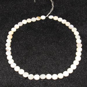 Fashion charm jewelry DIY earrings accessories natural white shell straight hole circular piece beaded