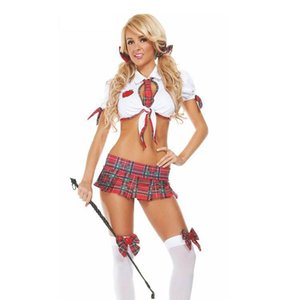 Ladies Sexy Task Master Teacher Costume Naughty School Girl Costumes Sexy Halloween Schoolgirl Costumes