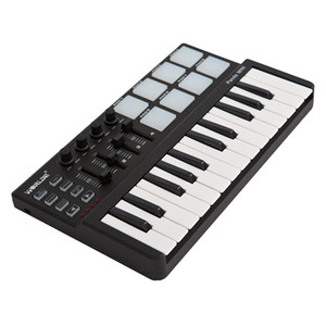 wholesale Panda mini Portable Mini 25-Key USB Keyboard and Drum Pad MIDI Controller