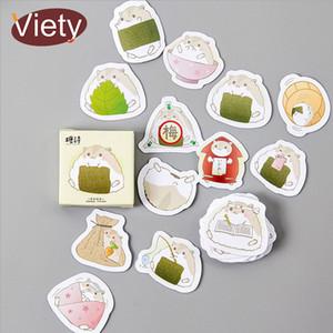 45 pcs / lote Animal pequeno bonito hamster mini-papel adesivo decoração DIY diário etiqueta scrapbooking papelaria adesivo kawaii