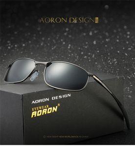 Aoron polarisierten Sonnenbrillen Männer Marke Rechteck Rechteck Sunglass der Männer Driving Sonnenbrillen UV400 Brillen