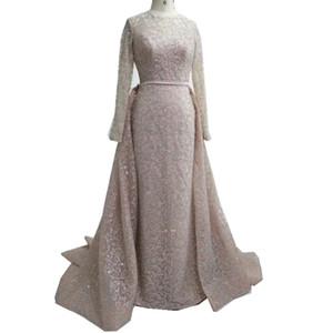 Съемная юбка вечерние платья с длинным рукавом роскошные арабские вечерние платья реальная картина Завод высокое качество женщина вечерние платья