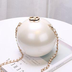 Portable Pearl Makeup Hard Box Clutch Bag Sling Purses And Handbags Summer Shoulder Bag Women Ladies Hand Evening Clutch