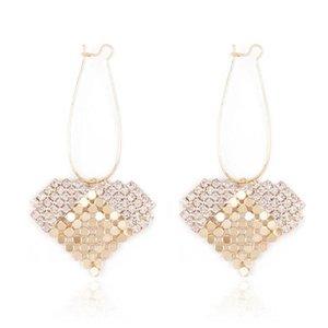 Orecchini d'argento dell'ago di S925 orecchini eccellenti del rhinestone del flash degli orecchini orecchini delle donne dell'orecchio sottile dell'orecchio accessori femminili