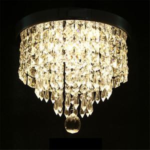 Candelabro Moderno Luz de teto de cristal de cristal luminária teto lâmpada corredor alpendre lâmpada quarto sala de estar teto balcão luzes