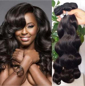 Vizon Brezilyalı Virgin Saç Vücut Dalga Düz 100g / pc Brezilyalı İnsan saç örgüleri Paketler Doğal Siyah Koyu Kahverengi Renk mevcuttur