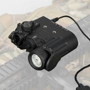 Новое поступление тактический фонарик DBAL-D2 двойной Луч прицеливания лазер зеленый ж / ик светодиодный осветитель класс 1 CL15-0074