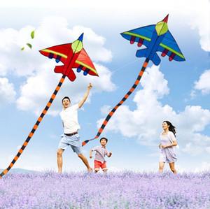 مضحك الرياضة تحلق طائرة ورقية الشكل الطائرات الورقية في الهواء الطلق اللعب مع مقبض وخط للأطفال هدية طائرة ورقية للأطفال أطفال