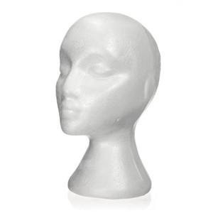 Dummy / Mannequinkopf weiblich Foam (Polystyrol) Aussteller für Kappe, Kopfhörer, Haarschmuck und Perücken Frau Mannequin Foam