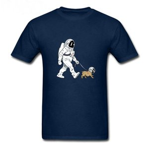 The Walking Dead T shirt men SpaceX Spaceship tshirt Astronaut Dog Cool T-shirt Rocket tshirt homme StarmanX Space dog top Tee pullover